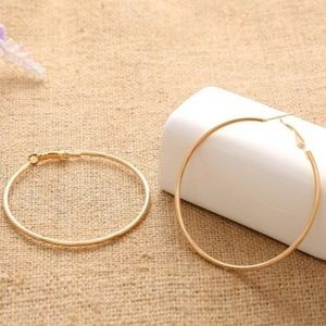 NWT Rose Gold Tone Large Hoop Earrings